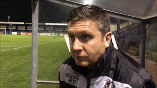 26-12-2018 - Gainsborough Trinity v Grantham Town - post match interview with Richard Thomas