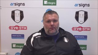 20-7-2019 - Grantham Town v Bourne Town - Post match interview with Grantham Town Manager Paul Rawden