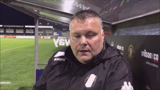 Gainsborough Trinity v Grantham Town post match interview