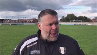 Nantwich Town v Grantham Town post match interview