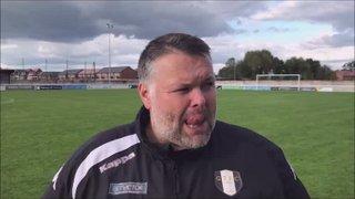 Nantwich Town v Grantham Town post match interview