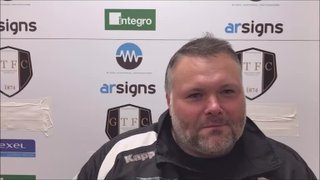 Grantham Town v Mickleover Sports post match interview with Paul Rawden