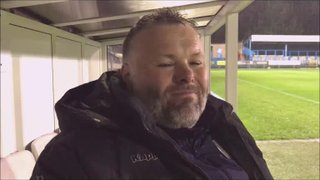 Stalybridge Celtic v Grantham Town post match interview with Paul Rawden