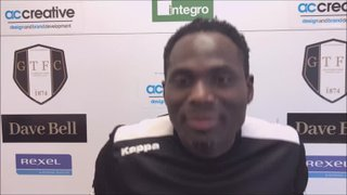 Grantham Town v Radcliffe Post Match interview with Francois Zoko