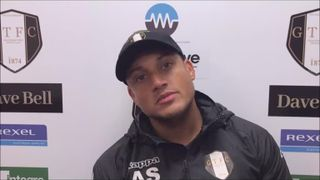 Grantham Town v Ashton United post match interview with Adam Smith