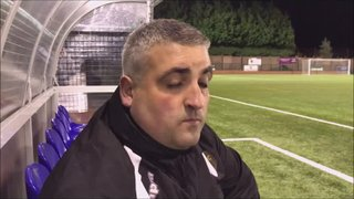 Buxton v Grantham Town post match interview with Russ Cousins