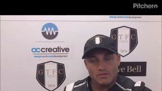 Grantham Town v Hyde United post match interview with Adam Smith