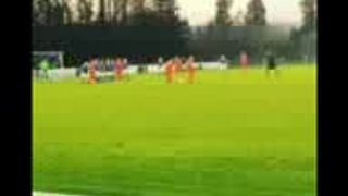 Alan Bull free kick at Caersws