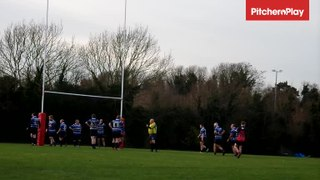 Ollie McGann kicks a conversion for Dartford Valley