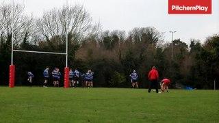Ryan Francis kicks a conversion for Dartford Valley