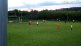 Kyle Stovell scores for Carlton Town